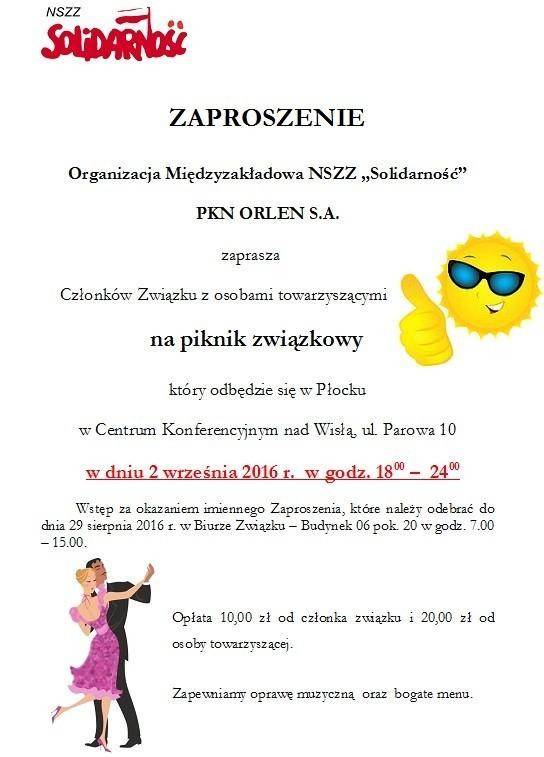 Piknik Związkowy Om Nszz Solidarność Pkn Orlen Sa